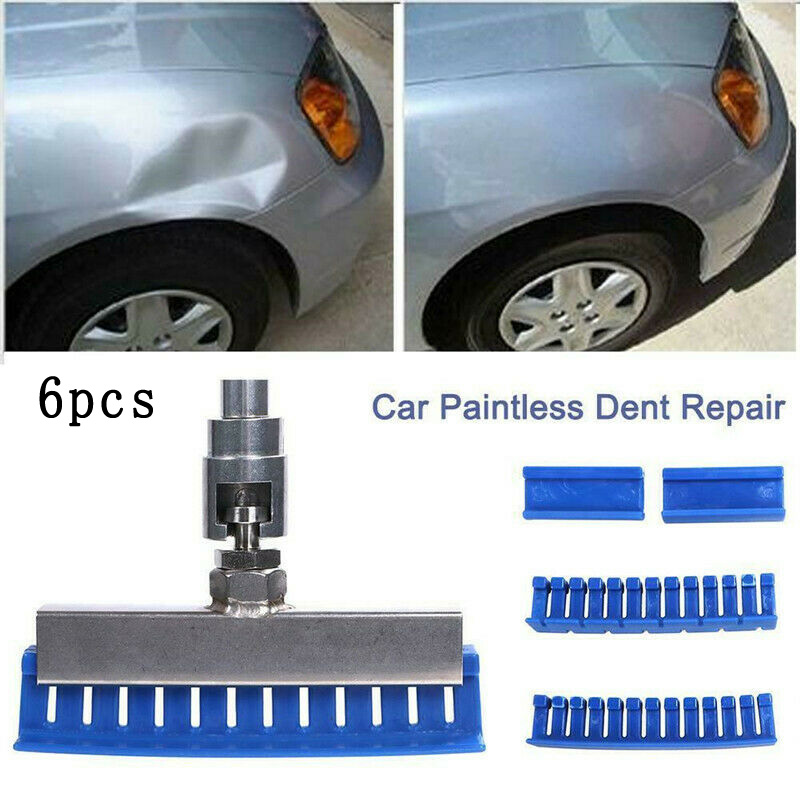 6pc Set No-Paint Dent Removal Slide Hammer Tool Puller Lifter Corrosion Resistant Waterproof Car Body Repair Tools