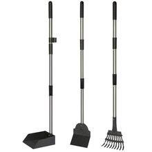 Комплект из трех предметов ПЭТ дерьмо лопатка для чистки грабли