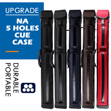 цена на NA 1/2 Pool Cue Case Nylon Material 5 Holes 5 Colors Carrying Bag Stick Case Durable Billiard  Accessories Fit 2 Butt 3 Shafts