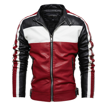 SHABIQI 2020 New Autumn and Winter Fashion Warm Motorcycle Leather Jacket for Men Zipper Casual Winter Woolen Thicken Coat