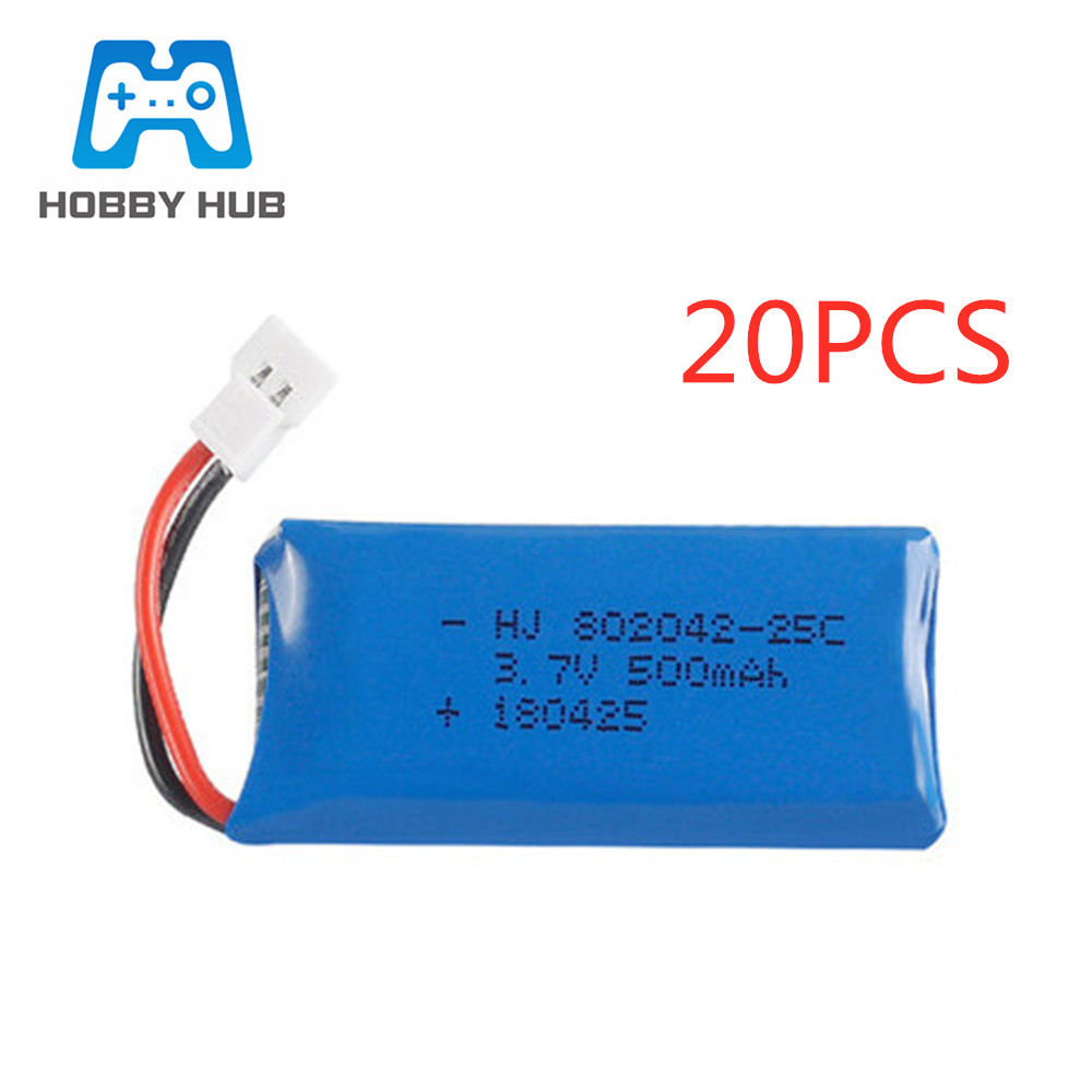 3.7V 500mAh 25C 802042 Lipo <font><b>Battery</b></font> for <font><b>Hubsan</b></font> X4 H107 H107L <font><b>H107C</b></font> H107D Udi U942A U816 JXD385 RC Quadcopter parts 3.7v <font><b>battery</b></font> image