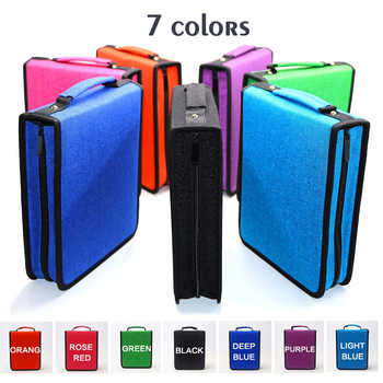 120 Holes Large Capacity Professional Oxford Canvas Bag Pencil Fold Case Pen Storage Pouch Sketch Drawing Tools Art Supplies