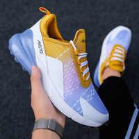 Tamanho grande homem correndo sapatos almofada de ar sapatos esportivos respirável sapatos masculinos plana caminhada tênis tornozelo formadores zapatos de hombre