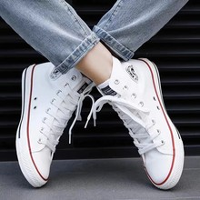 Best Selling Shoes Women Canvas Shoes Women's Fashion Casual Breathable Sneakers Black White Blue Red Sports Shoes 2021 New 44