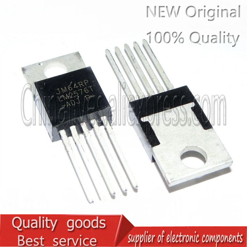 10pcs/lot New LM2576 LM2576T-ADJ DC-DC Power Supply Regulator