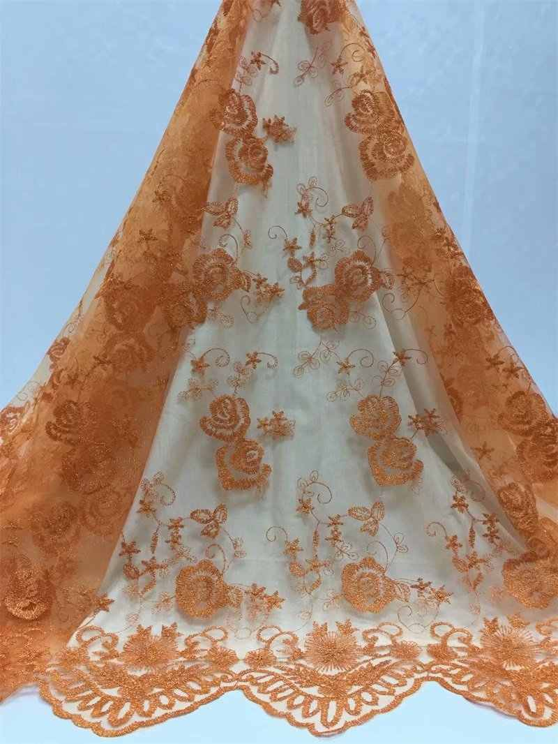 Горячая продажа Роскошная африканская кружевная ткань 2019 высокого качества Тюль французский зеленый кружева ткани Французский кружева для свадебного платья 5 ярдов/партия