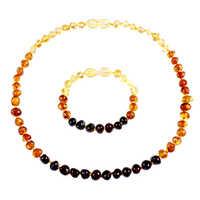 Echte Natürliche Stein Halskette Liefern Zertifikat Authentizität Klassischen Baltischen Bernstein Edelstein Baby Halskette Geschenk 10 Farbe 14-33cm