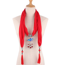 jewelry necklace scarf womens clothing matching neck decoration ethnic peacock pendant