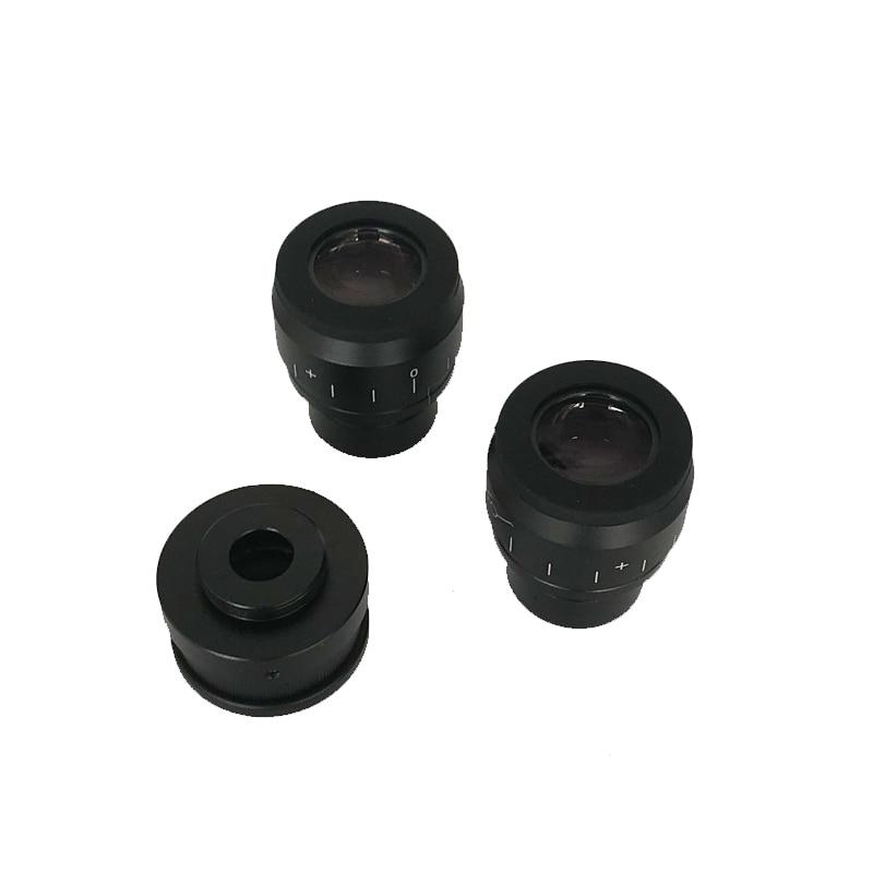Image 5 - 8X 50X سيميول البؤري ثلاثي العينيات ستيريو مجهر تكبير WF10X/22 العدسة 0.5X 2.0X عدسات موضوعية مجوهرات الهاتف PCB أدوات إصلاحميكروسكوب   -