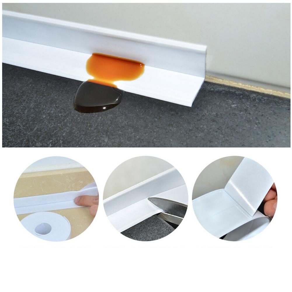 3,2 м x 38 мм ванная душевая раковина для ванной уплотнительная лента Белая ПВХ самоклеющаяся Водонепроницаемая Настенная Наклейка для ванной кухни