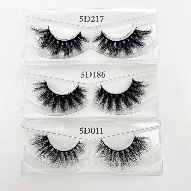 Wholesale 20/30/40/50Pairs Eyelashes 3D Mink Lashes Handmade Fluffy Dramatic Lashes Cruelty Free False Eyelashes Makeup Lashes 6