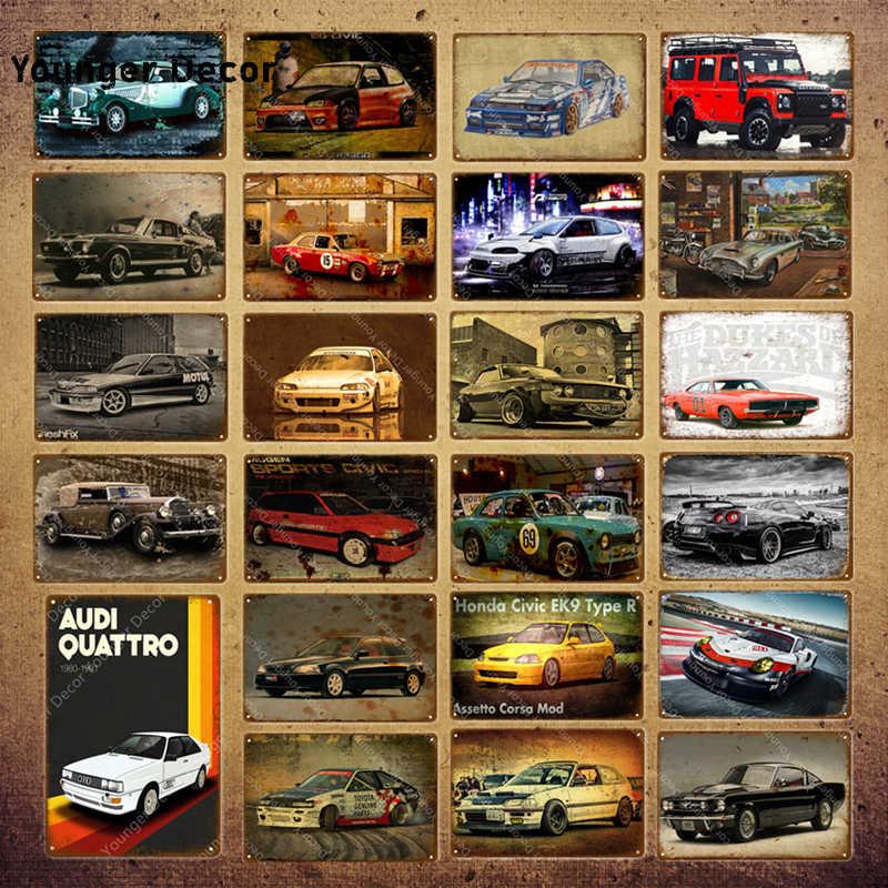 VINTAGE COOL METAL TIN SIGN POSTER WALL PLAQUE-Motor Car