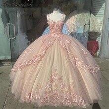 Bealegantom querida espaguete cinta quinceanera vestidos 2021 inchado vestido de baile doce 16 vestido de baile de 15 anos