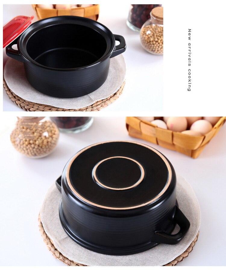 saúde presente cerâmica caçarola sopa pote 2l 3l