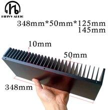 Radiador DIY disipador de calor de aluminio para el amplificador electrónico enfriamiento por disipación de calor enfriador 348*50mm disipador de calor