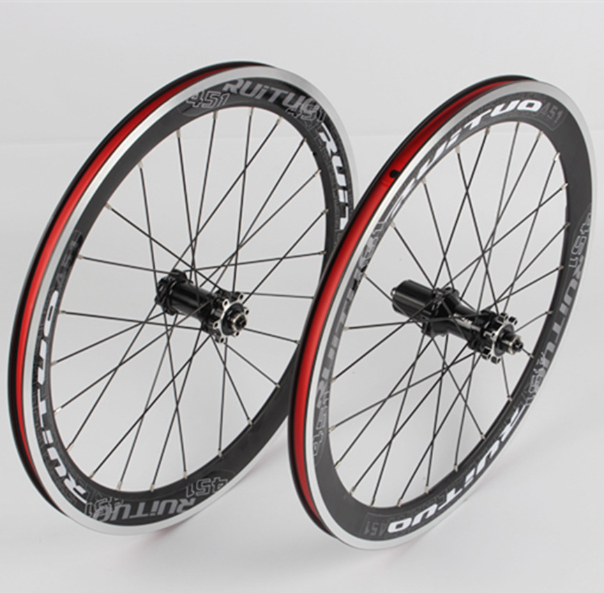 <font><b>RT</b></font> 20 * 1- / 8 451 Disc/V Brake <font><b>Wheelset</b></font> Straight Pull Front 2 Rear 5 Sealed Bearing Hub Wheels Aluminum Alloy Rim 100/135mm image
