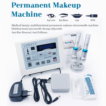 Professional Permanent Makeup machine Liberty Tattoo Machine Digital dermographe maquillage foot switch Cosmetic tattoo kit