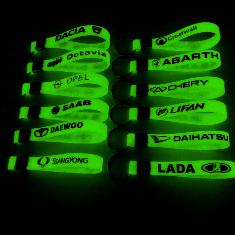 Luminous Silicone Car sticker Key Ring For Ford VW GOLF skoda bmw audi BENZ TOYOTA SAAB OPEL Car Styling Accessories Automobiles