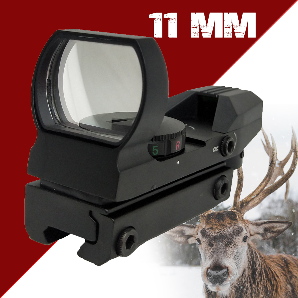 Totriat 1 x 33 Tactical Fighter holographic 4 Reticle Red/Green Dot reflex sight scope Green 20 mm / 11 mm HD101 Free Shipping|Riflescopes| |  - title=