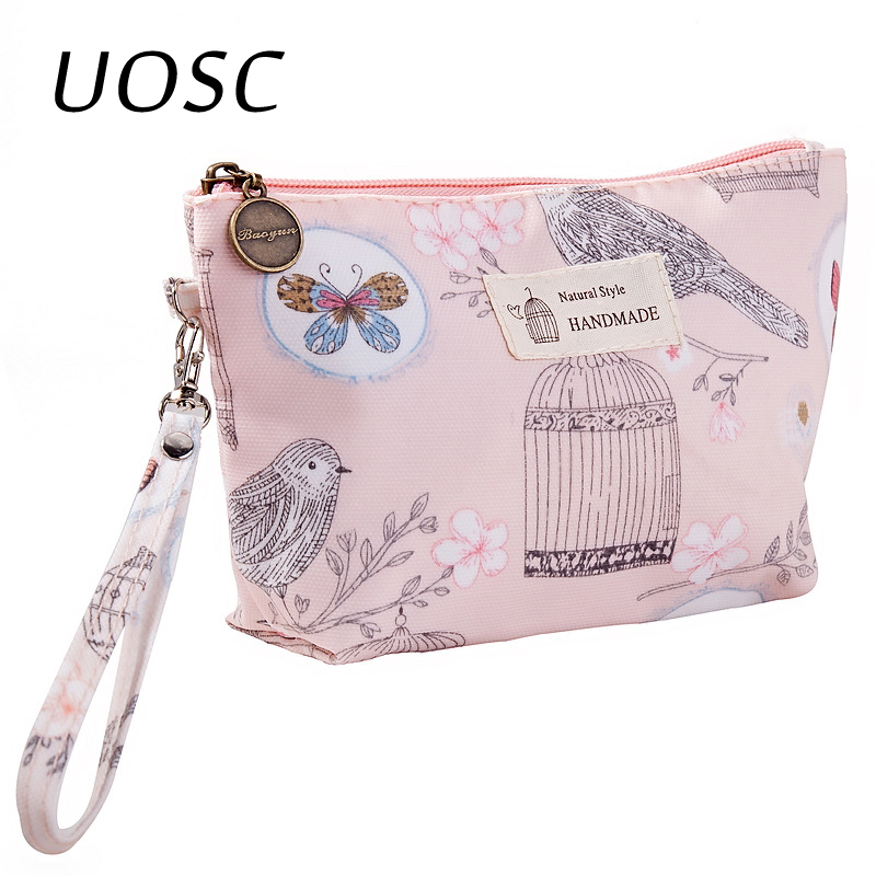 UOSC Roomy Cosmetic Bag Fashion Women Makeup Bags Waterproof Cosmetics Bag For Travel Lady Tote Washing Toiletry Pouch Bags(China)