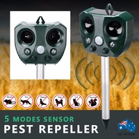 Outdoor Garden Mole Repellent Solar Power Ultrasonic Mole Snake Bird Mosquito Mouse Pest Repeller Control Garden Yard