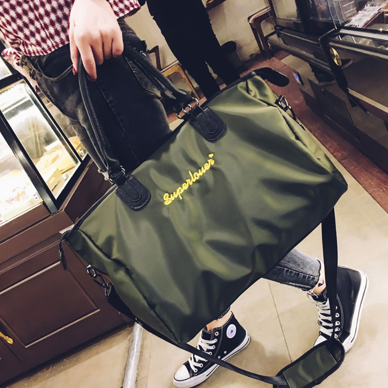 New Fashion Ladies Short-distance Travel Bag Business Large Capacity Oxford Portable Luggage Trend Embroidery Sports Fitness Bag