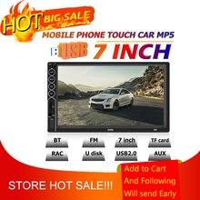 Swm N6 2DIN 7 Inch Touch Screen Bluetooth Car Stereo Video MP4 MP5 Speler Usb Aux Fm Autoradio Backup camera Multimedia Speler
