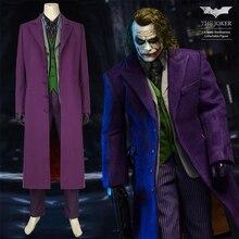 DC The Dark Knight Rises Joker Costume Cosplay Batman Vest Mask T-shirt Suit Coat Blazer Adult Heath Ledger Halloween Custom