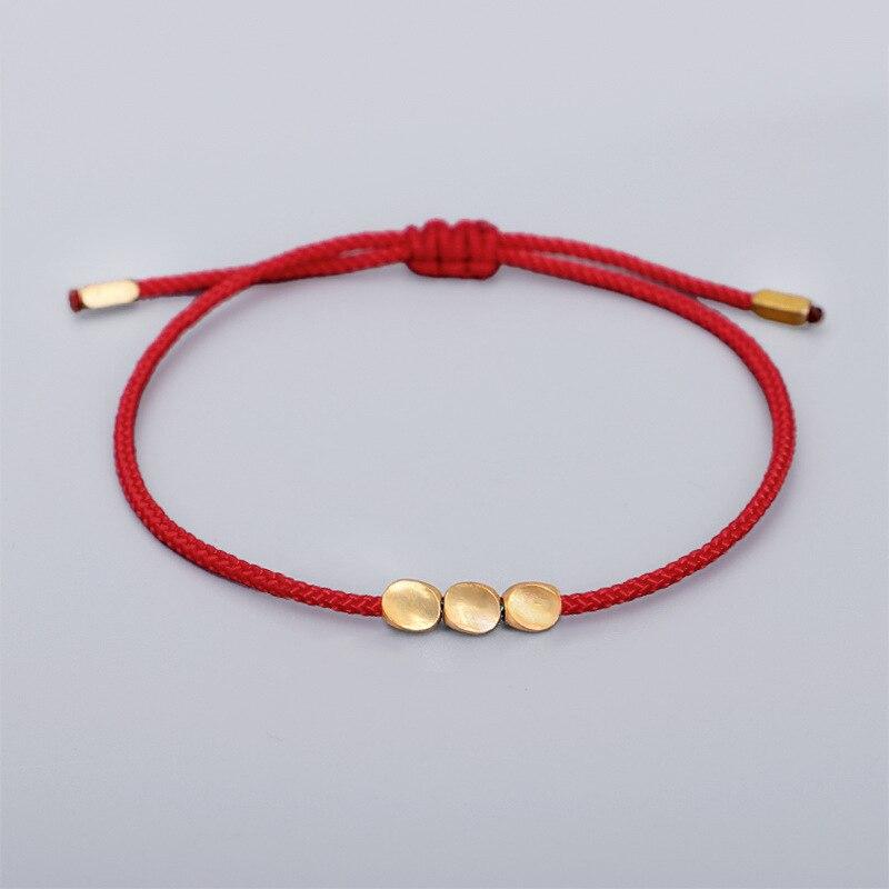 Feng shui lucky braceletes budismo corda vermelha fio de cera pulseira de pulso amizade yoga oração exclusivo presente chinês barato jóias