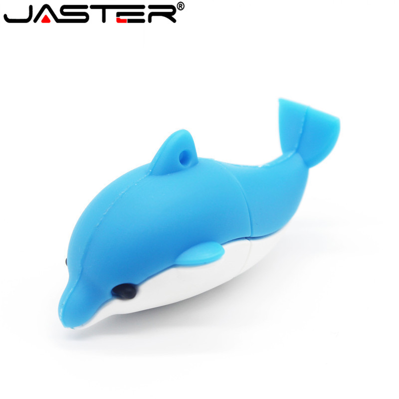 JASTER Lovely Mini Dolphin USB Flash Drive Cute Animal Pen Drive Cartoon Pendrives U Disk