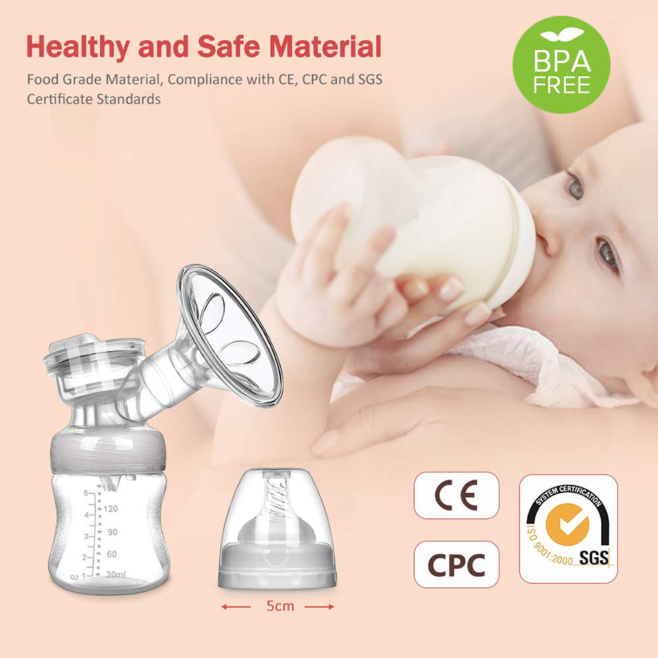MOSFiATA Dual Suction Rechargeable Nursing Breastfeeding Electric Breast Pump