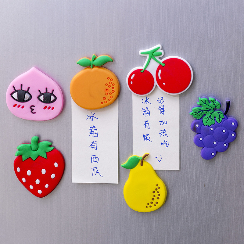 Kawaii Cartoon Magnet Fridge Magnets Decor for Refrigerator Fruit Sticker Children Magnets Home Decoration Message Board Magnet(China)