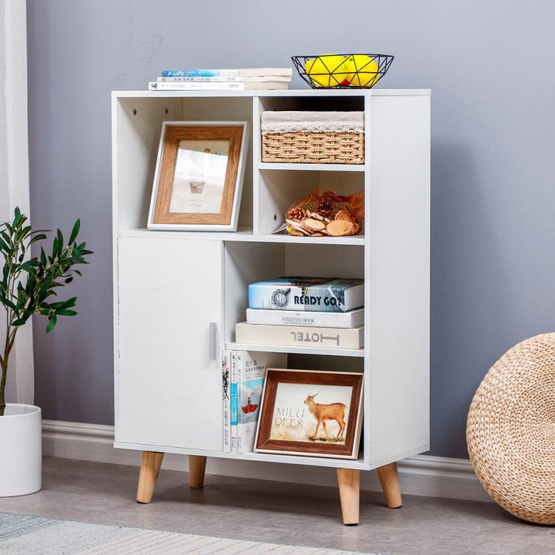 4 Layer Bookcase Simple Assembled Bookshelf Corner Closet Sundries Book Storage Organizer Shelf Storage Cabinet Furniture HWC
