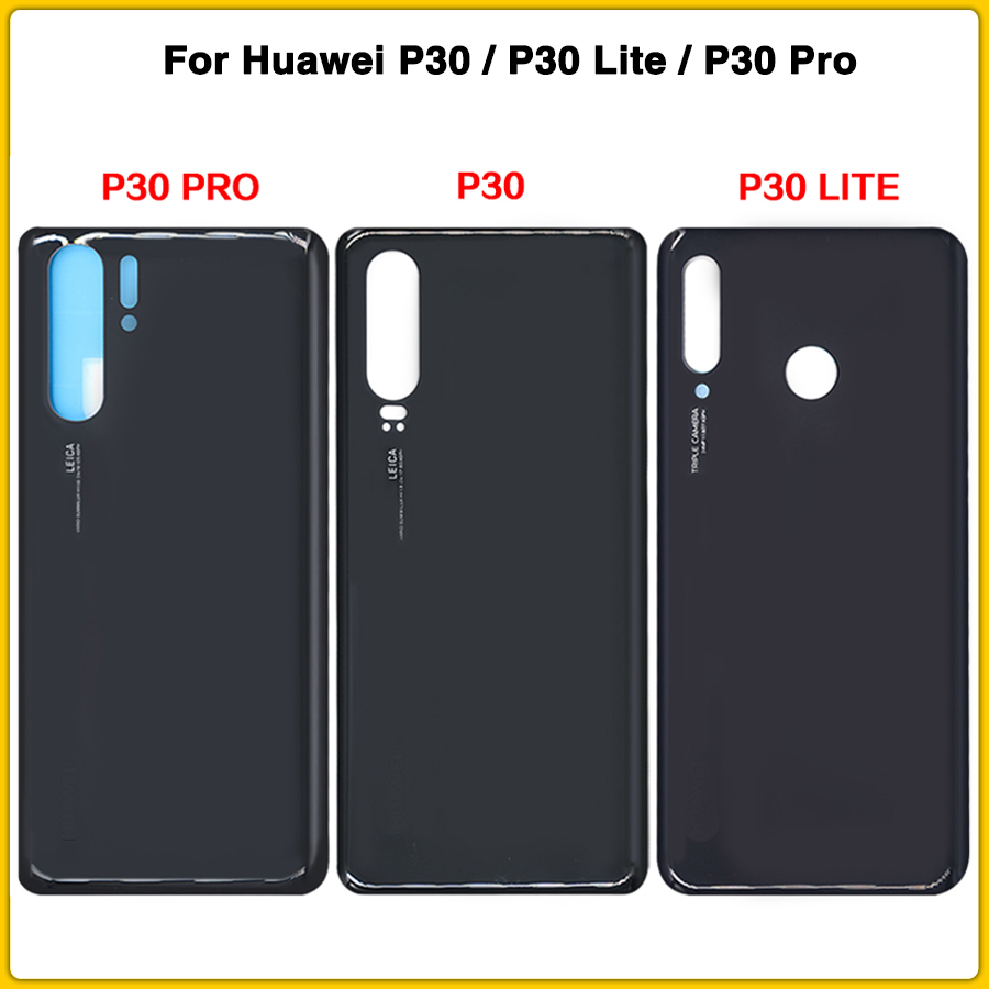 10pcs <font><b>Battery</b></font> <font><b>Cover</b></font> For <font><b>Huawei</b></font> <font><b>P30</b></font> / <font><b>P30</b></font> Lite / <font><b>P30</b></font> Pro <font><b>Battery</b></font> <font><b>Cover</b></font> Door Rear <font><b>Cover</b></font> Glass Panel + Adhesive Sticker image