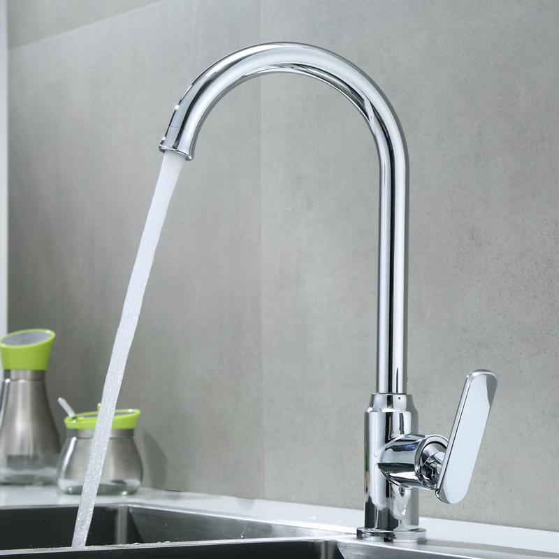 Hot And Cold Kitchen Faucet Washing Basin 304 Stainless Steel Copper Sink Faucet Heating And Sanitary Ware Production Manufactur