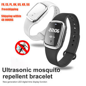 Bracelet Watch Mosquito-Repellent Electronic-Clock Insect Bugs Capsule Portable