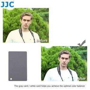 Image 3 - JJC 3in1 Set di carte per bilanciamento del bianco 18% calibrazione della fotografia di carte grigie per Canon Nikon Sony Fuji Pentax DSLR accessori per fotocamere