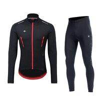 Santic Men Winter Cycling suits Cycling Set Sportswear Cycling Jackets Bib pants Cycing pants Clothing Set MTB Warm Asian M 4XL