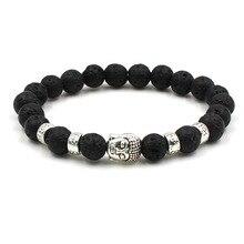 8mm Beads Chakra Bracelet Yoga Charm Bracelets Men Women  Healing Balance Supernatural Lava Reiki Stones Unisex Jewelry