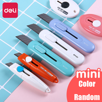 цена на Deli 1pc Cute Color Mini Portable Utility Knife Paper Cutter Cutting Paper Letter Opener Office Stationery Cutting Supplies