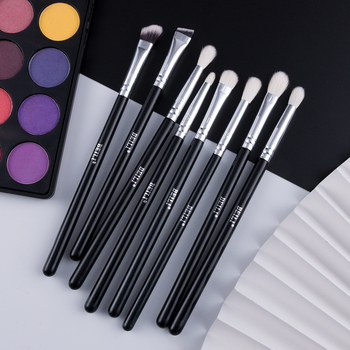 BEILI 8pcs Classic Black Pro makeup brushes  1