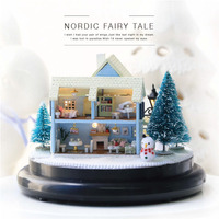Christmas Decorations for Home Handmade Woodworking Nordic Fairy Tale Music Box Wood Birthday Gift for Girlfriend Caja Musical