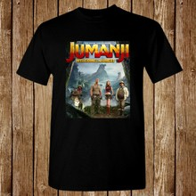 Jumanji Movie Poster 2017 New T-Shirt Size S-5XL(China)