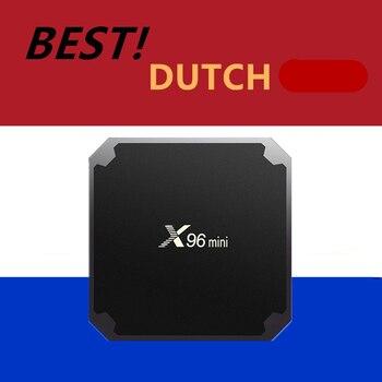 네덜란드어 프로 iptv x96mini 안드로이드 tv 박스 유럽 Nederlands 스웨덴 독일 네덜란드 네덜란드 지원 m3u vlc 스마트 ip tv 박스