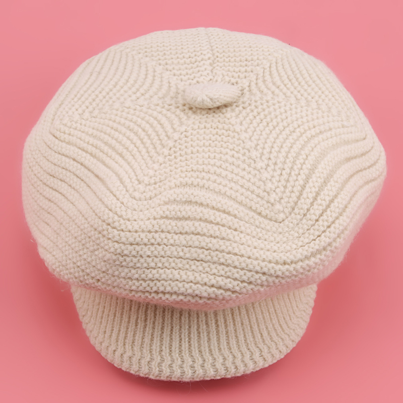 New Brand Hat Autumn Winter Knitted Hat Female Thermal Rabbit Fur Hat Knitted Windproof Knitted Hat Female Beanies