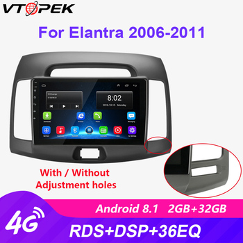 Vtopek 2din 2G+32G Android 8.1 Car Radio Multimedia Video Player Navigation GPS For Hyundai Elantra 2006-2010 2 Din Dvd 4G WiFi