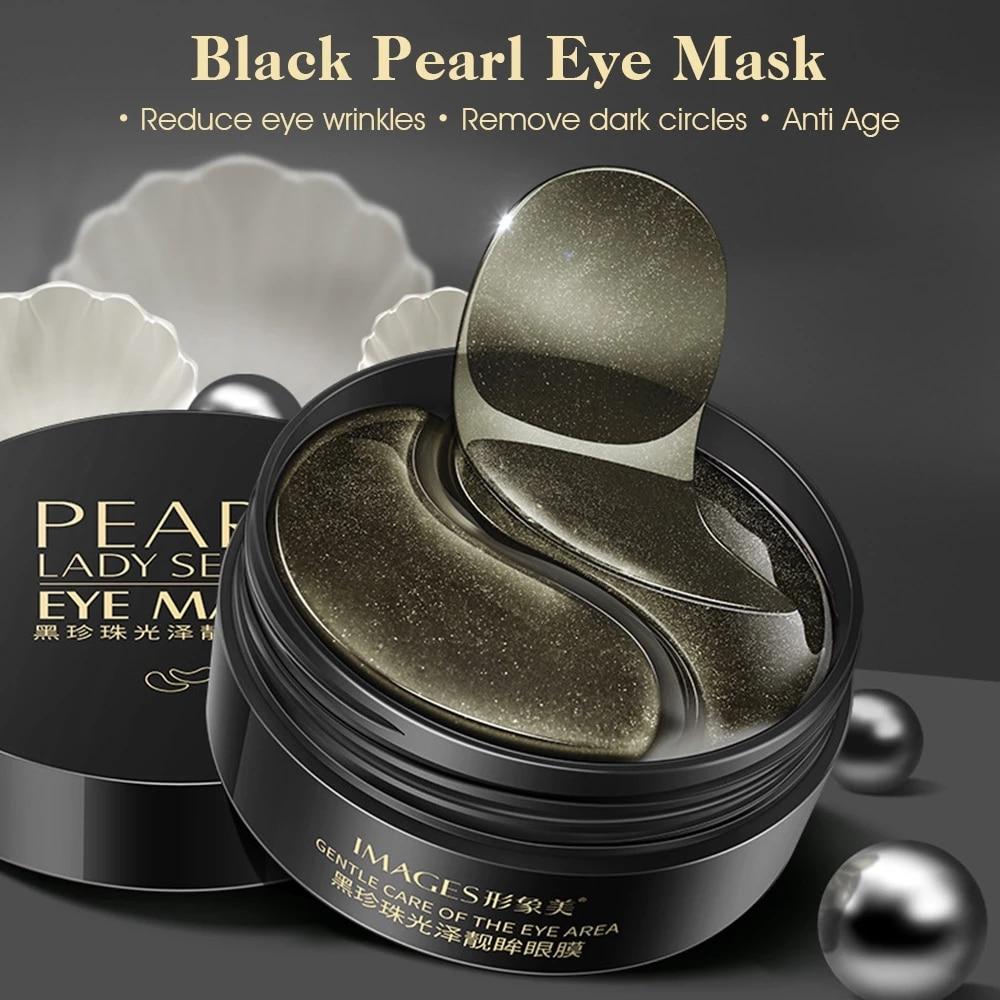 Black Pearl Eye patches Natural Moisturizing Gel Collagen Eyes Masks Remove Dark Circles Anti Age Bag Wrinkle 60PCS Skin Care M-3