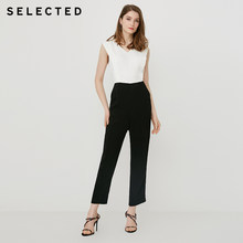 SELECTED Women's Summer 2019 Black and White Jumpsuit S|419244503(China)