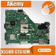 SAMXINNO X55VD GeForce GT610M 2GB RAM اللوحة الرئيسية REV 2.2 ل Asus X55V X55VD X55VDR A55V اللوحة الأم للكمبيوتر المحمول شحن مجاني
