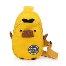Canvas-Bag Coin-Purse Shoulder-Bag Korean-Girl's New Duck Fashionable